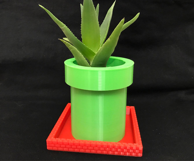Super Mario Warp Pipe Planter