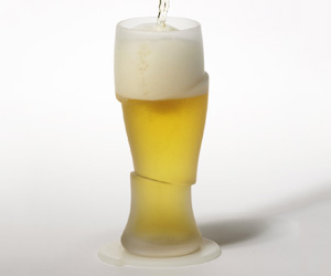 Surreal Sliced Beer Glasses