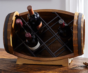 Tabletop Wine Barrel Bottle Rack
