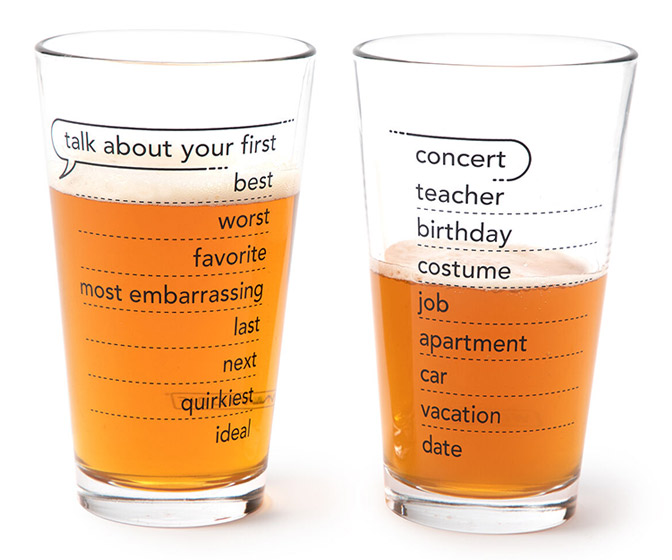 Talking Pints - Conversation Starter Topics Glassware