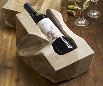 Tarang Teak Wine Bottle Holder