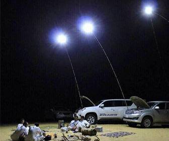 Telescopic Fishing Rod LED Lamps
