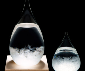 Tempo Drop - Sculptural Weather Forecasting Storm Glass