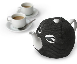 Terrorist Teapot - Evil Teapot with Ski Mask Tea Cosy