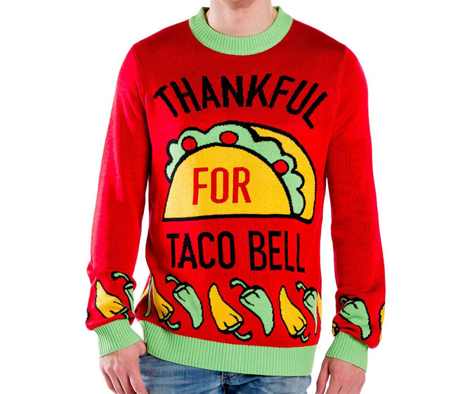 Thanksgiving Taco Bell Ugly Sweaters