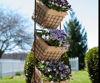 Three-Tier Harvest Basket Planter Stand