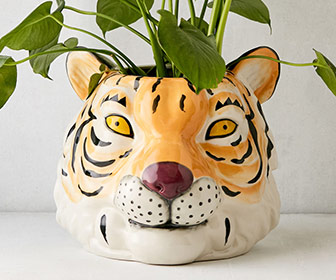 Tiger Head Planter