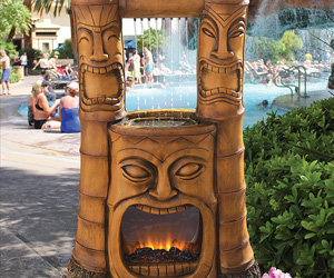 Tiki God of Fire and Water Fountain