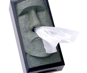 Tiki Head Tissue Box Cover