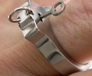 Titanium Working Handcuff Ring