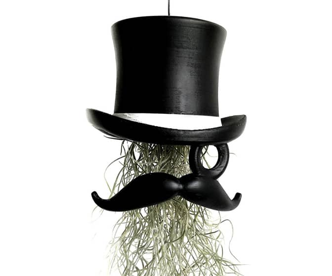 Top Hat and Face Air Plant Hanging Planter