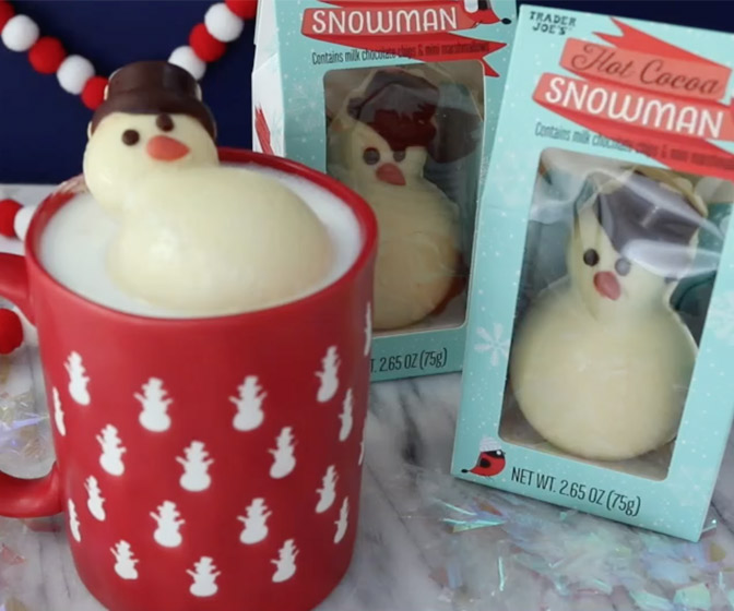Trader Joe's Melting Hot Cocoa Snowman