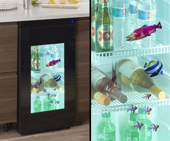 Transparent Video Door Mini Refrigerator