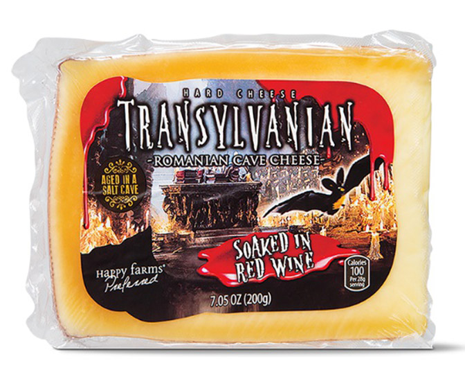 Transylvanian Cave Cheese - Soaked in Red Wine!