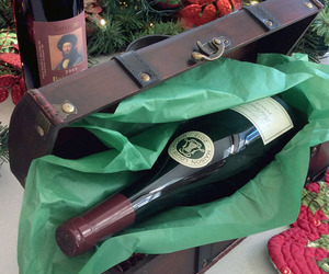 Treasure Chest Wooden Wine Bottle Gift Box