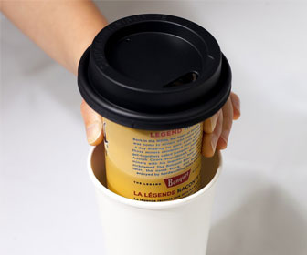 Trinken Lid - Conceal a Beer Can in a Paper Coffee Cup