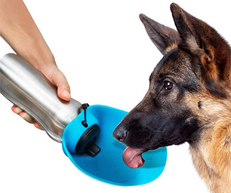 Tuff Pupper Big Dog - Portable Dog Water Bottle / Water Bowl