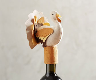 Thanksgiving Turkey Wine Topper