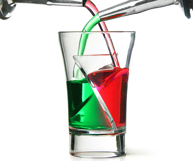 Twister Shot Glasses