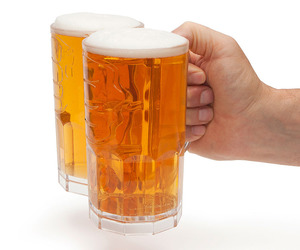 Two-Fisted Drinker Beer Mug