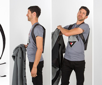 Under-The-Jack Pack - Laptop Bag You Wear Under a Jacket
