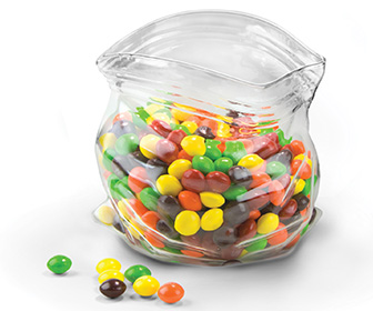 Unzipped Glass Zipper Bag - Candy and Nut Bowl