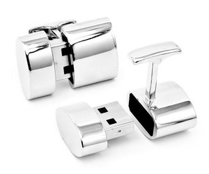 USB Cufflinks - Link Cuffs, Store Data and Create a Wi-Fi Hotspot