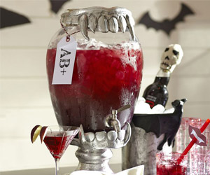 Vampire Teeth Drink Dispenser Stand