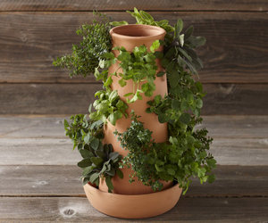 Vertical Terracotta Herb Tower