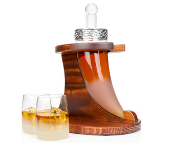 Viking Horn Whiskey Decanter Set