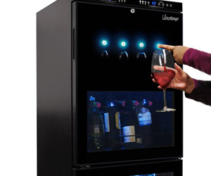 Vinotemp Dual-Zone Wine Bottle Dispenser And Cooler