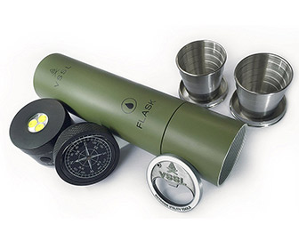 VSSL Flask - Flashlight Designed To Hold Booze