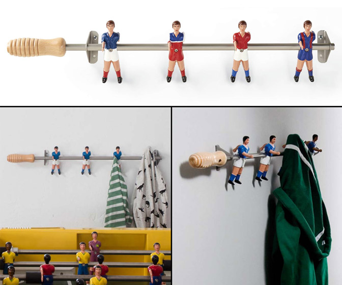 Wall Champions Foosball Coat Rack