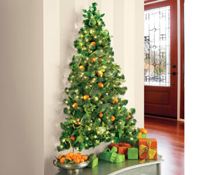 Wall-Hanging Pre-Lit Christmas Tree