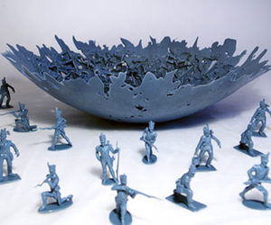 War Bowl - Made From Melted Toy Soldiers