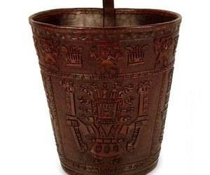 Warrior Guard - Leather Wastebasket