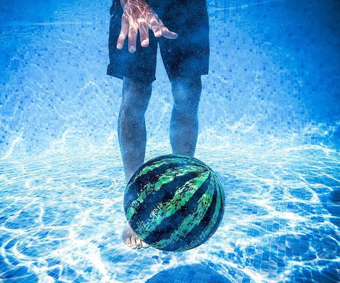 Watermelon Ball - Dribble, Kick, Bounce, and Pass Underwater