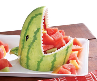 Watermelon Shark Serving Bowl