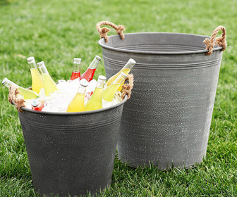 Weathered Sol Zinc Buckets