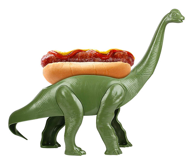 Weeniesaurus - Prehistoric Hot Dog and Snack Holding Dinosaur