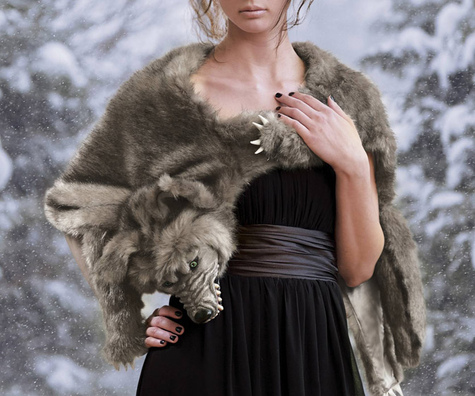 Werewolf Faux Fur Wrap