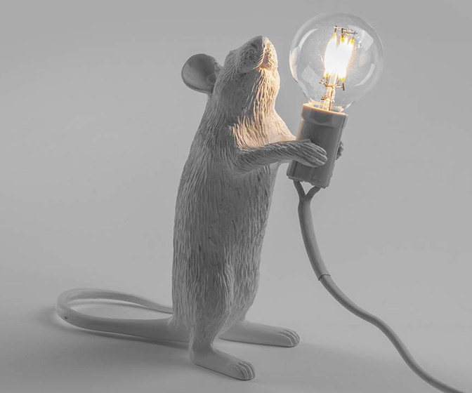 Whimsical Mouse Lamp