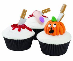 8f1ecf92eae Wilton Halloween Knife Cupcake Icing Decorations