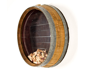 Wine Barrel Cork Collection Display