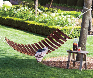 Wine Barrel Stave Hammock