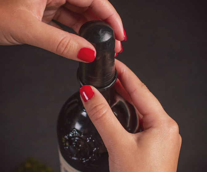 Wine Bottle Condoms