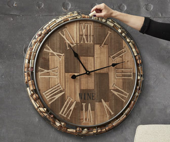 Wine Cork Catcher Wall Clock