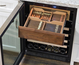 Wine Fridge With Cigar Humidor
