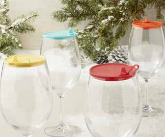 Wine Glass Sippy Lids