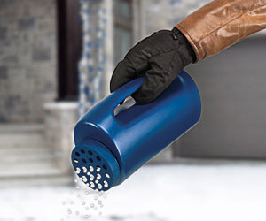 Winter Salt Sprinkler For Icy Walkways and Driveways